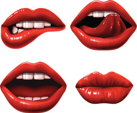 שפתיים מאופרות